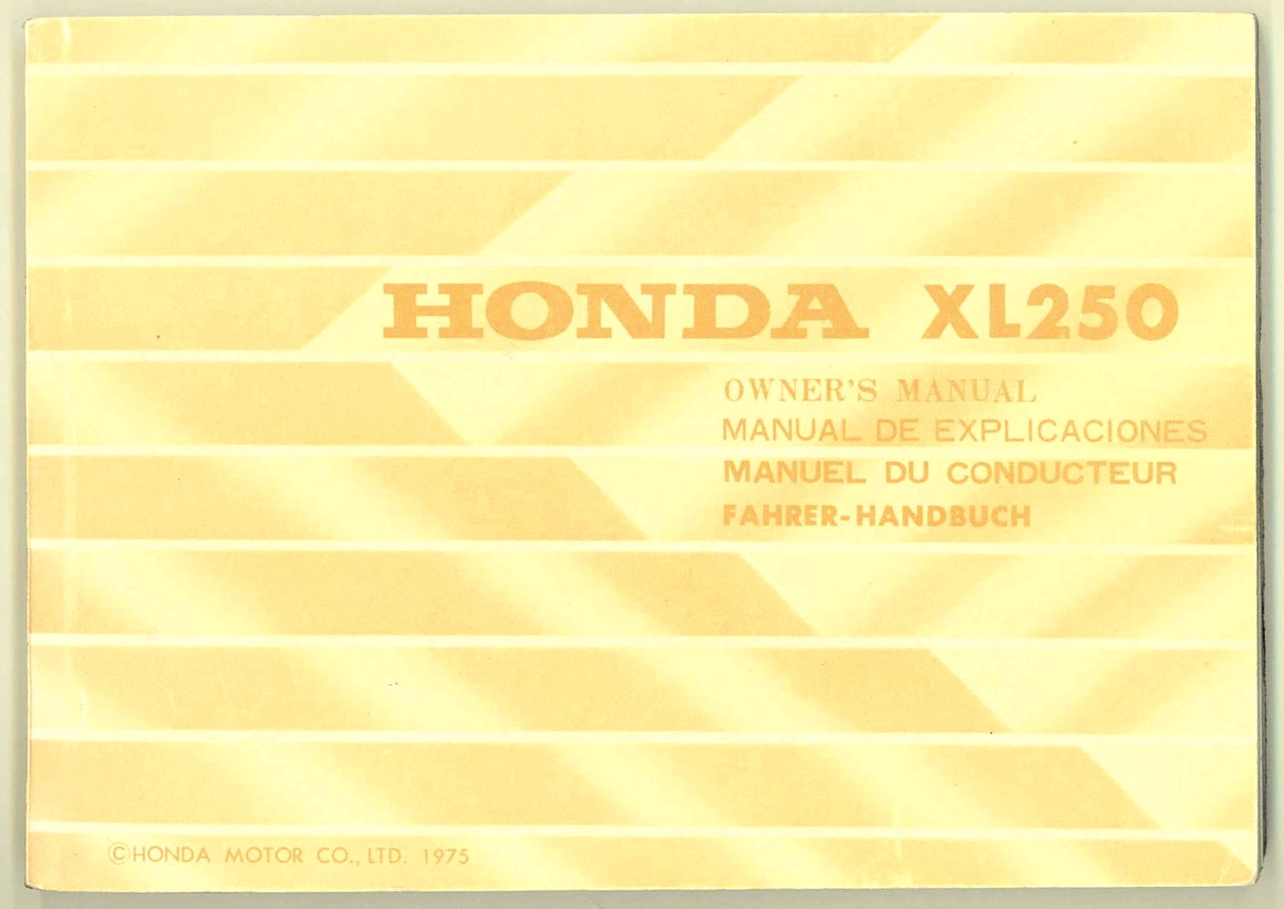 Wiring Diagram Online Honda Xl250 Page 3 And Xl250r 1978 Trusted Diagrams Source Hondaxl250k3 Euro European 1976 K3 Owners Manual